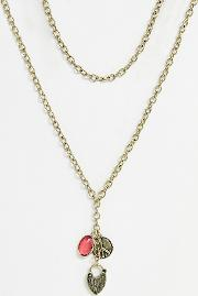 Chunky Chain Charm Drop Necklace