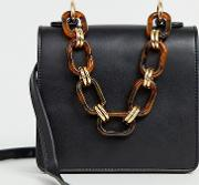 Exclusive Cross Body Bag With Resin Chain Handle