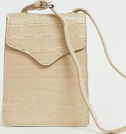 Exclusive Mock Croc Simple Cross Body Bag