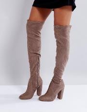 Over The Knee Sock Boot