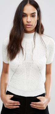 Ribbed High Neck Jumper