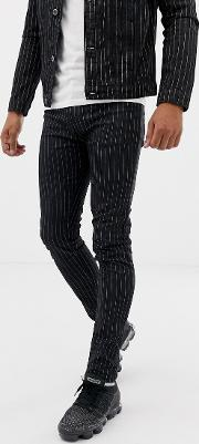 Jeans With Pinstripe