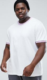 plus ringer t shirt with lilac