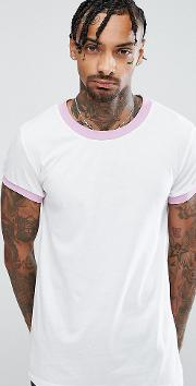 ringer t shirt with lilac