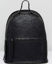 backpack with front pocket detail