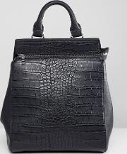 croc effect structured backpack