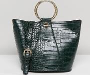 structured tote bag with metal handle  optional shoulder strap