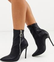 Pointed Stiletto Heeled Boots