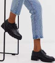 Wide Fit Chunky Lace Up Brogues