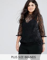 2 in 1 cami lace top
