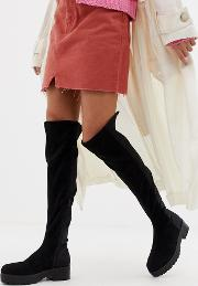 Shona Chunky Over The Knee Boots