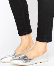 silver point loafers