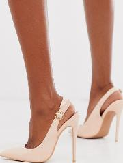 Slingback Pointed Court Shoe