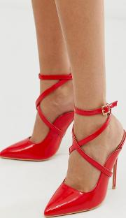Tyra Ankle Strap Heeled Court Shoe