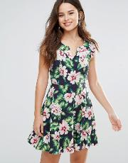 gael dress in floral print