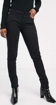 Embroidered Logo Skinny Jeans
