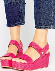 Stamp Wedge Sandals