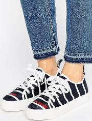Stripe Flatform Trainers