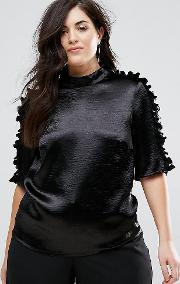 Slinky Blouse With Pleated Seam Detail