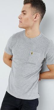 home towelling crew neck  shirt  grey marl
