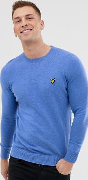 Crew Neck Cotton Merino Jumper
