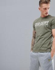 harridge large logo t shirt in khaki