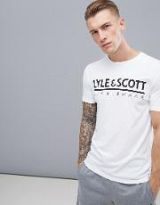 harridge large logo t shirt in white