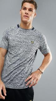 jones training  shirt  grey melange with contrast piping