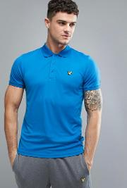 pascoe polo shirt with mesh panels in blue