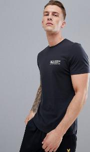 pendle small logo t shirt in black
