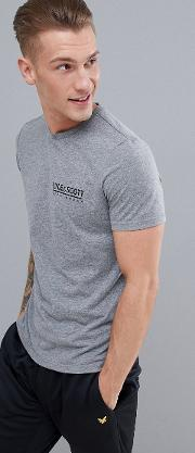 pendle small logo t shirt in grey