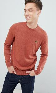 Merino Crew Neck Jumper Rust