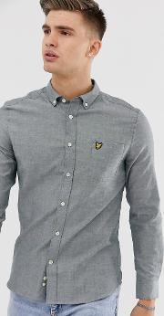 Slim Fit Long Sleeve Button Down Oxford Shirt