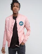 ma1 bomber jacket in pink
