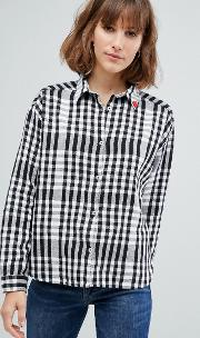Boxy Fit Classic Checked Shirt