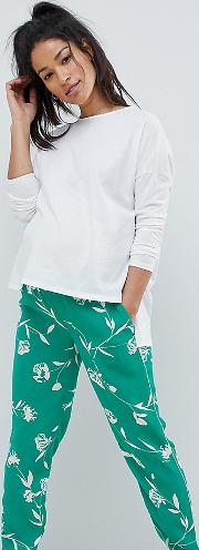 Mamalicious Floral Print Trousers