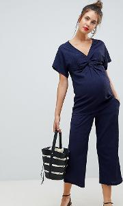 mamalicious relaxed wide leg trouser co ord