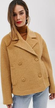 Boucle Double Breasted Short Coat