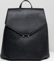 clean faux leather back pack