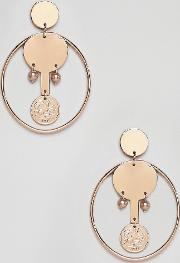 Coin And Hoop Earrings