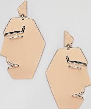 face earrings  gold