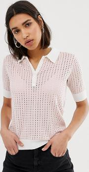 Knitted Polo Top