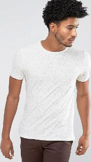 man t shirt with speckles in off white