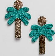 palm tree earrings  multi