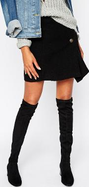 suedette over the knee heeled boot