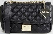pennie quilted cross body bag in black