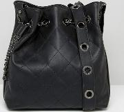 Rivet And Chain Detail Duffle Bag