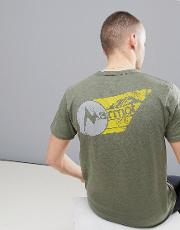 marwing t shirt with chest logo  olive green