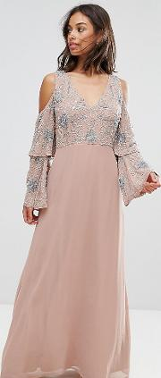 All Over Embellished Top Maxi Dress
