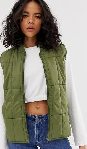 Padded Gilet With Contrast Lining